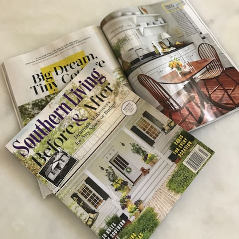 Cover Story of Southern Living Magazine about the renovation