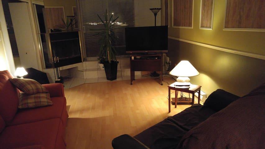 Condo avec foyer et près du fleuve - Ville de Québec - Apartamento