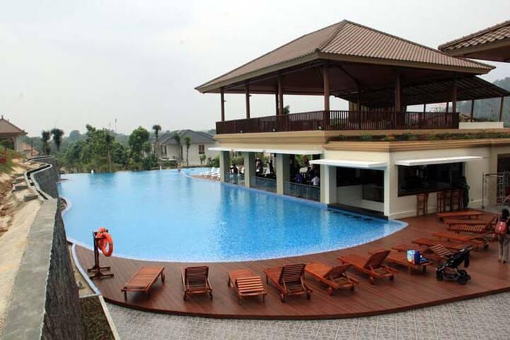 Club House (5 min walk from villa)