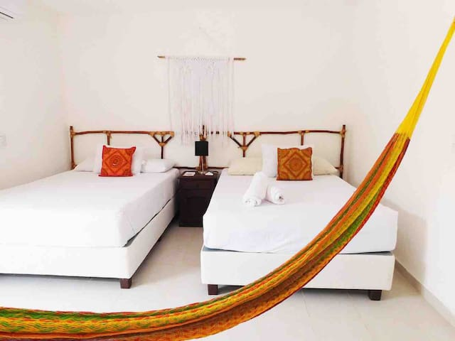 HOLBOX 4 PEOPLE ROOM WITH BALCONY #9