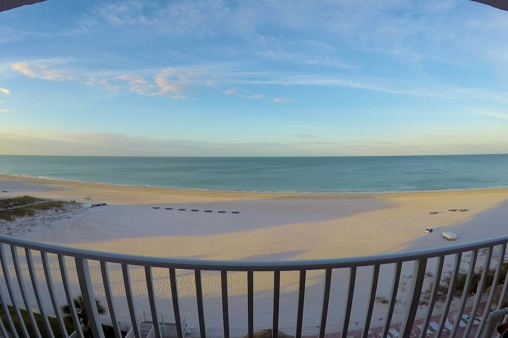 Morning on our Sea Breeze Madeira Beach Front Balcony