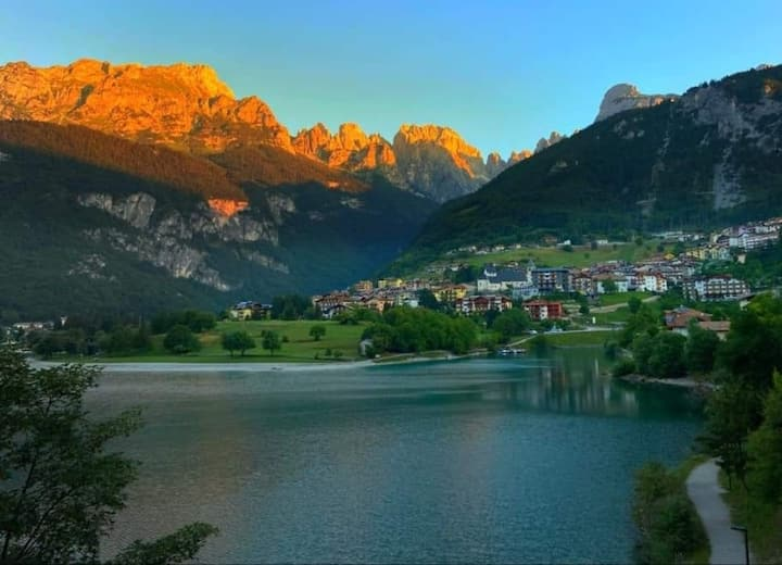 Amazing view of the Lake and the Dolomites****