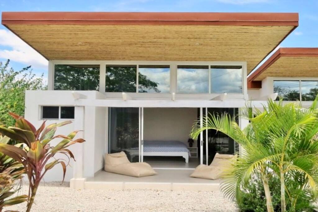 Master bedroom patio. Sliding glass doors, walk in closet and private bathroom.