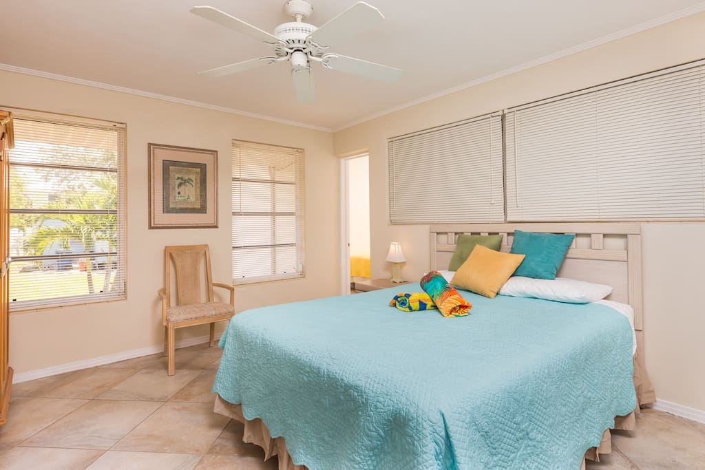 When you check in, you'll find beach towels rolled up and ready to go in each bedroom.