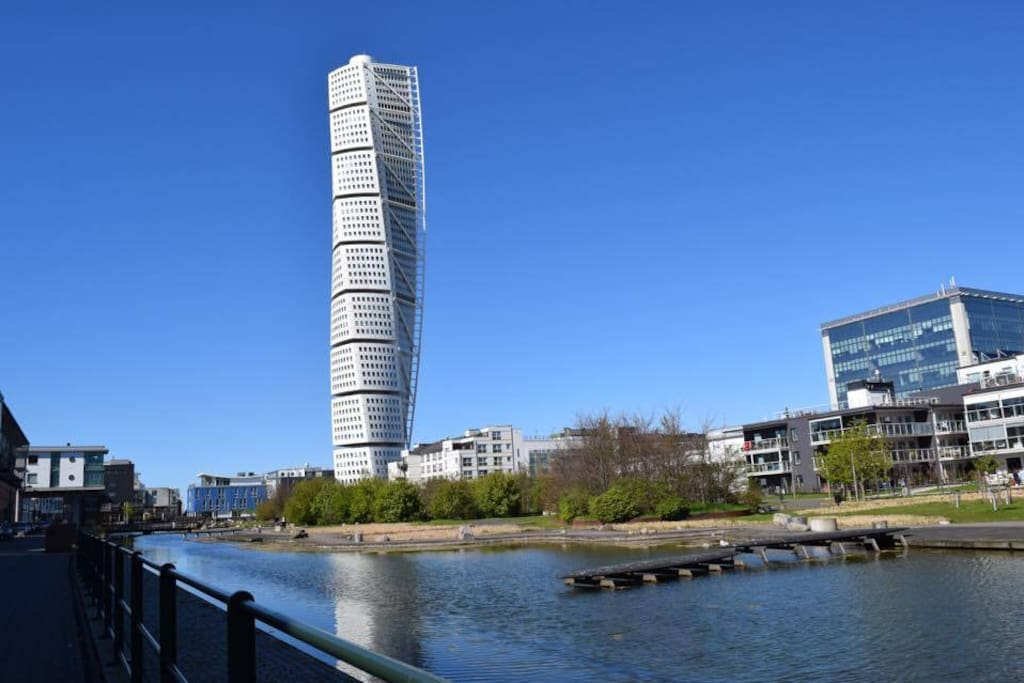 Turning Torso just behind the corner