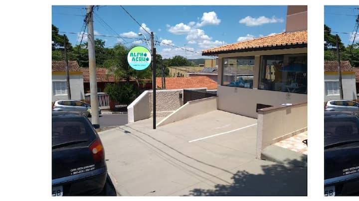 Flat 02 no centro de Jaguariúna PET Friendly