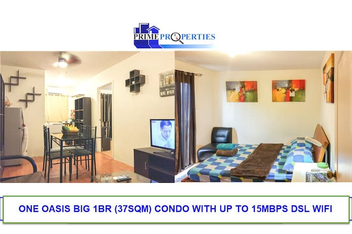 Big 1BR with 15Mbps Wi-Fi One Oasis Davao Condo