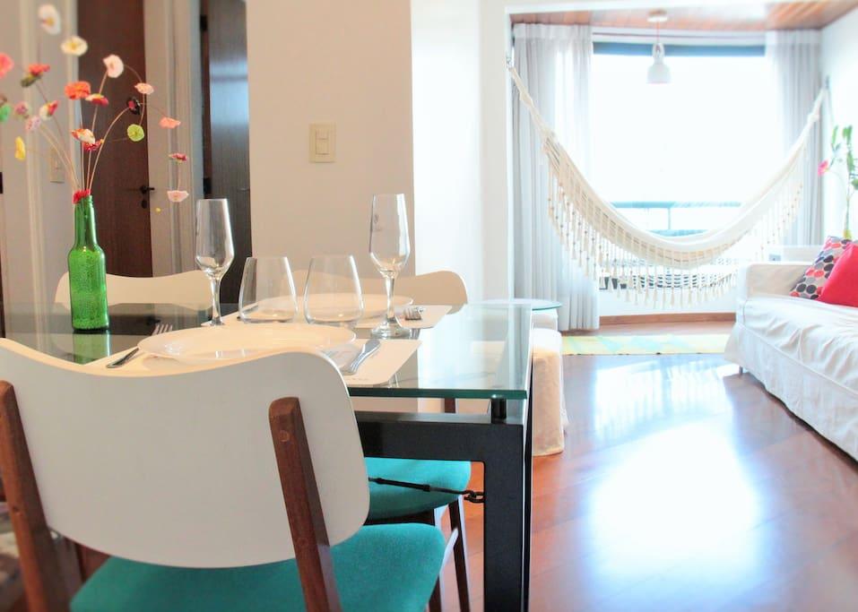 Apartamento perfeito para sua estadia... perfect for your stay...