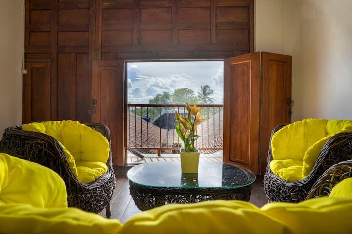 1 Room 4 Persons w/ Ricefields View @ ETHES Jogja
