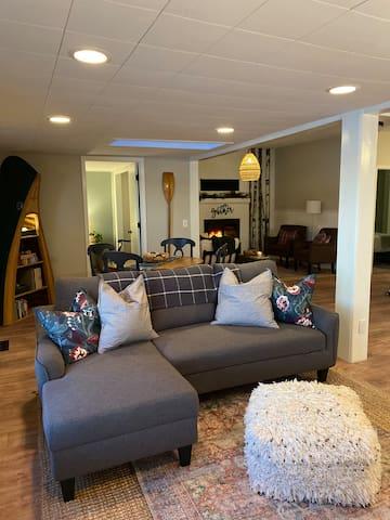 Living Room with Full Sleeper Sofa