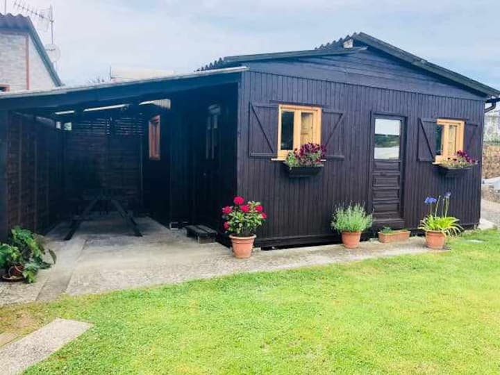 Wooden cabin in Camping End of Century