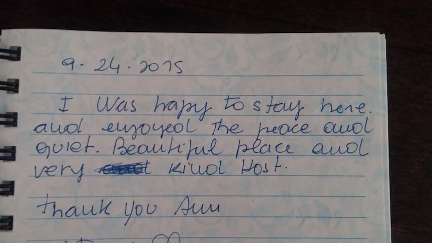 Kind words from our guest book.