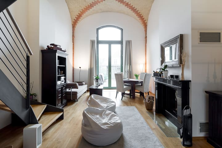 Exclusives Loft am Schloss Sanssouci, Kamin&Garten - Potsdam - Hus