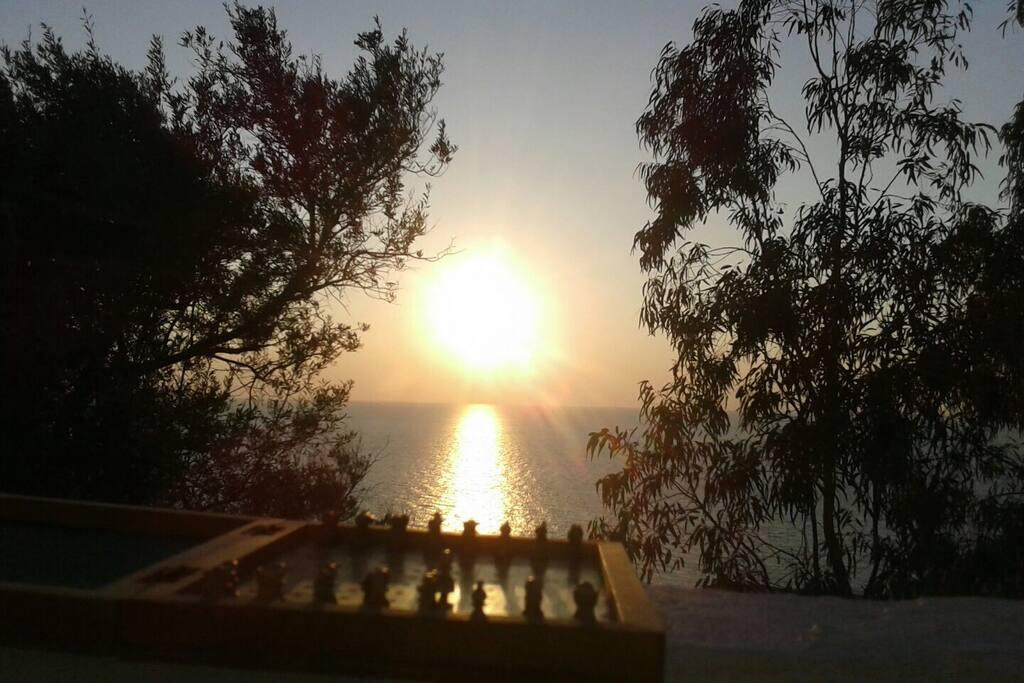 Scacchi al tramonto