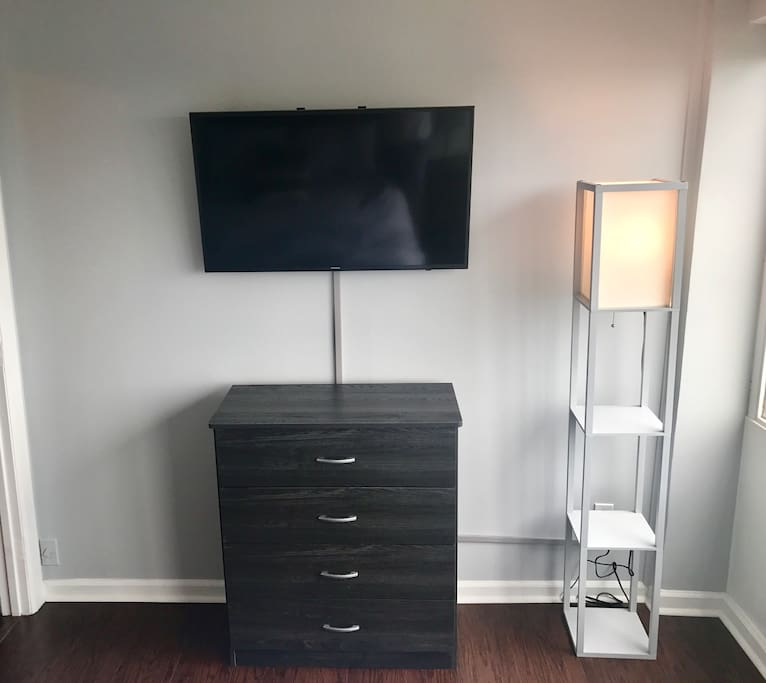 "A 40"" TV with Netflix in the bedroom."