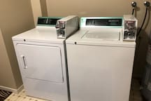 Coin operated laundry services