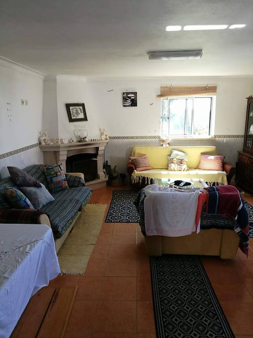 Sala com 2 sofás grandes