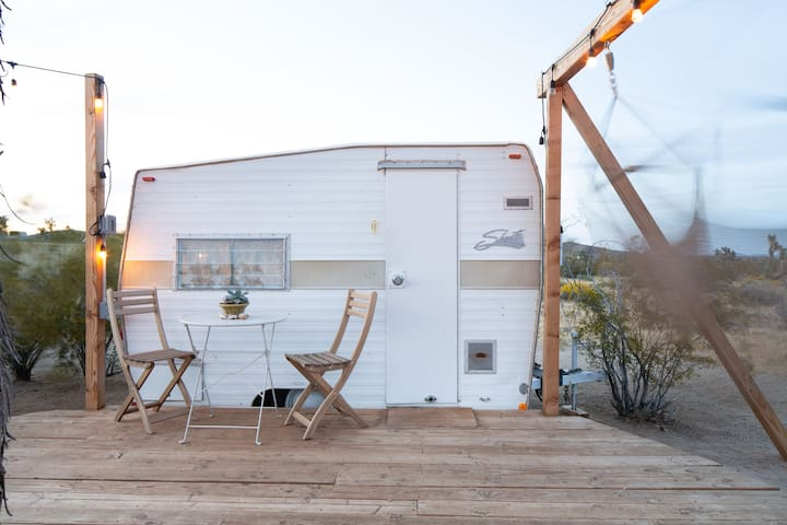 The Shasta with deck and swinging hammock