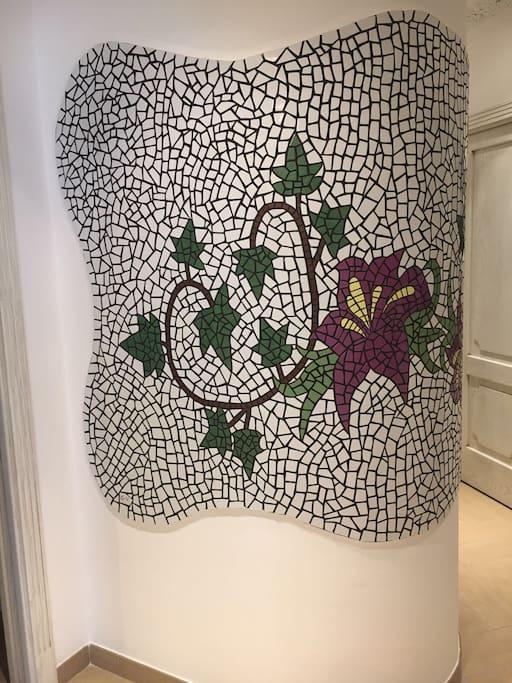 Mosaico nel corridoio