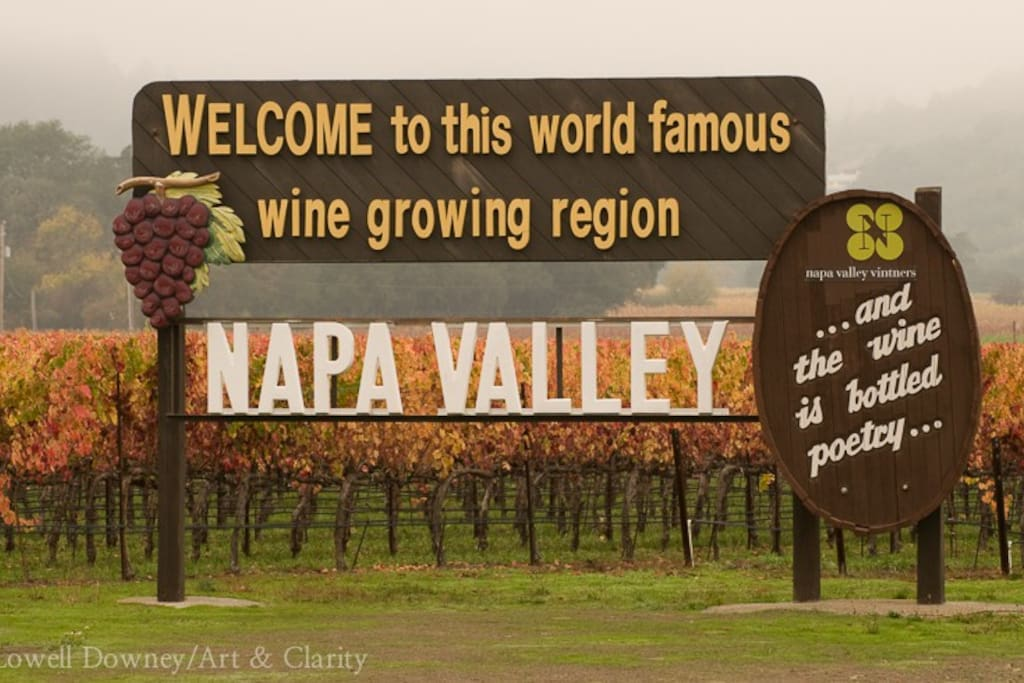 Welcome to Napa Valley...