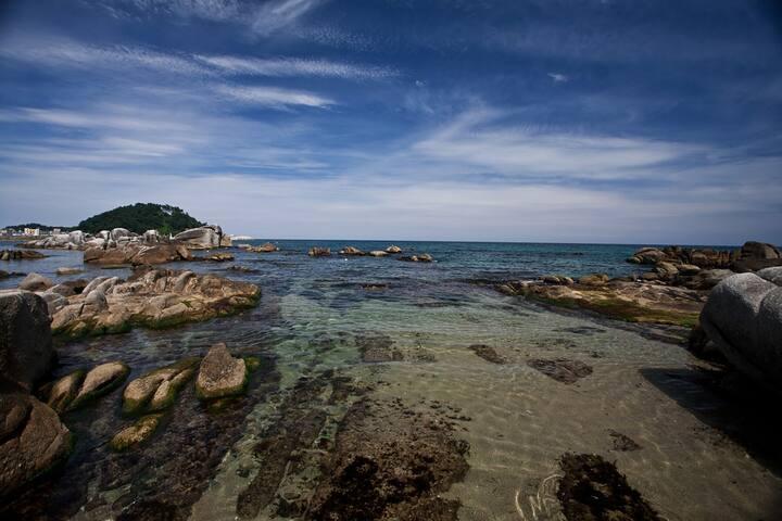 양양 죽도해변, 인구해변과 가까운 아파트독채 양양,하조대 서피비치,주문진,속초 낙산사