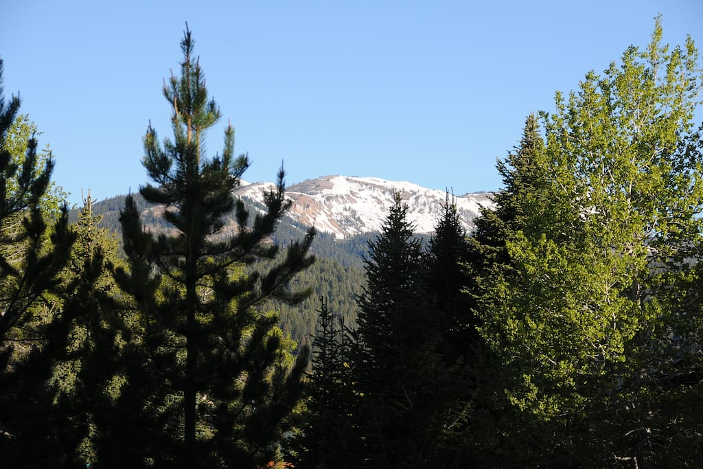 Lions Head peak as seen from front porch and Living Room