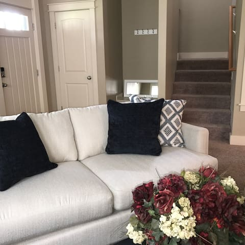 Access to AirBnB guest suites next to front door of home.