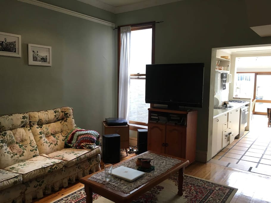 Living space with TV and Wireless internet