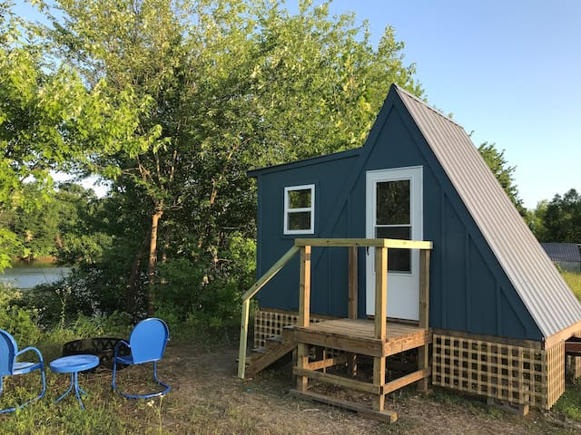Social Distance in an Off-Grid A-Frame Cottage