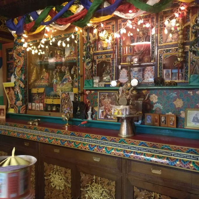 The Lhakhang - the prayer room.