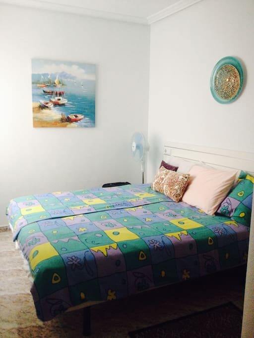 Second bedroom, king size bed.