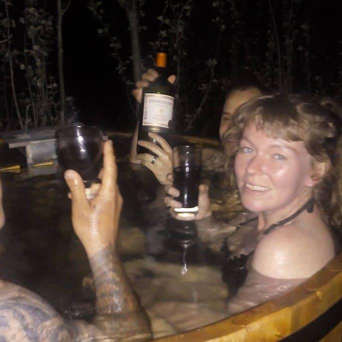 Gente de Australia en las hot tubs