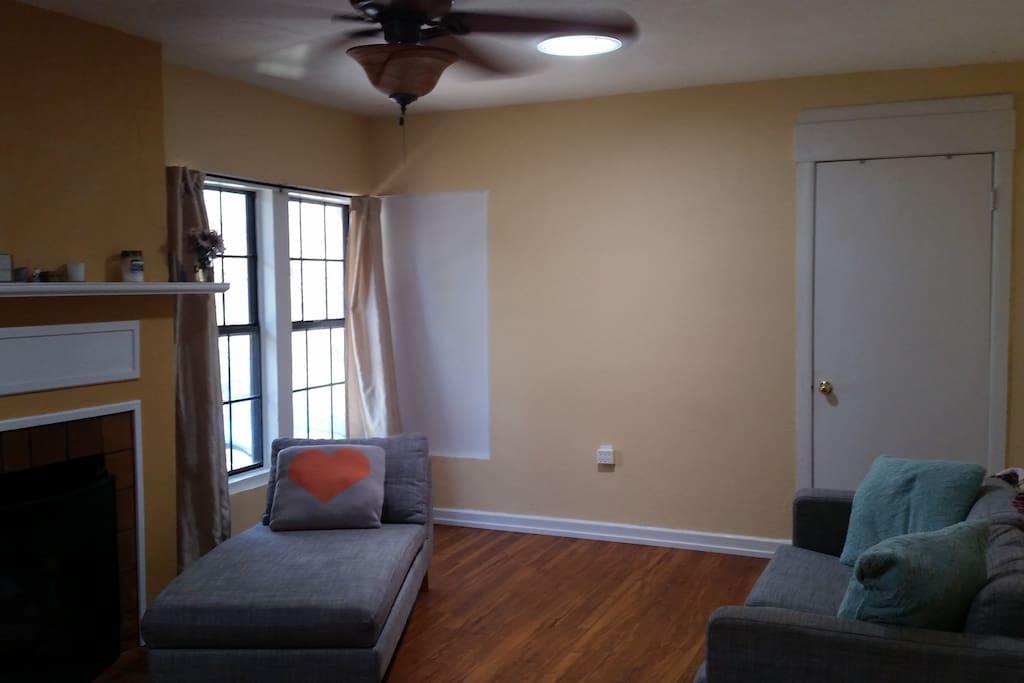 Living Room with Skylights - Door to Room #1