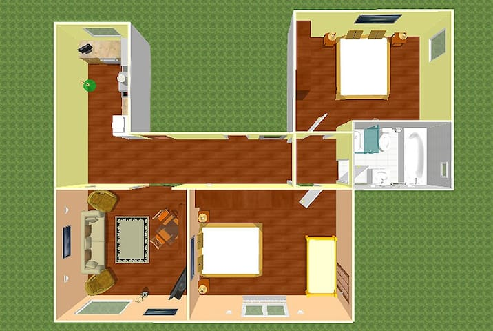 Apartment no. 3 (max. 8 persons) 85m²