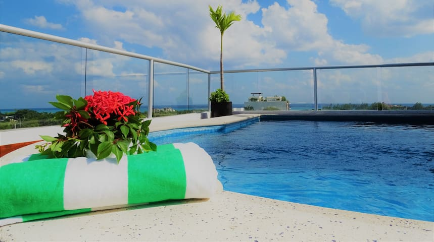 Mayan Penthouse with Rooftop Pool - Playa del Carmen - Lejlighed