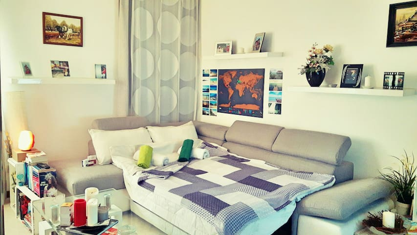 Comfortable couch bed in the living room - Piombino Dese - Apartament