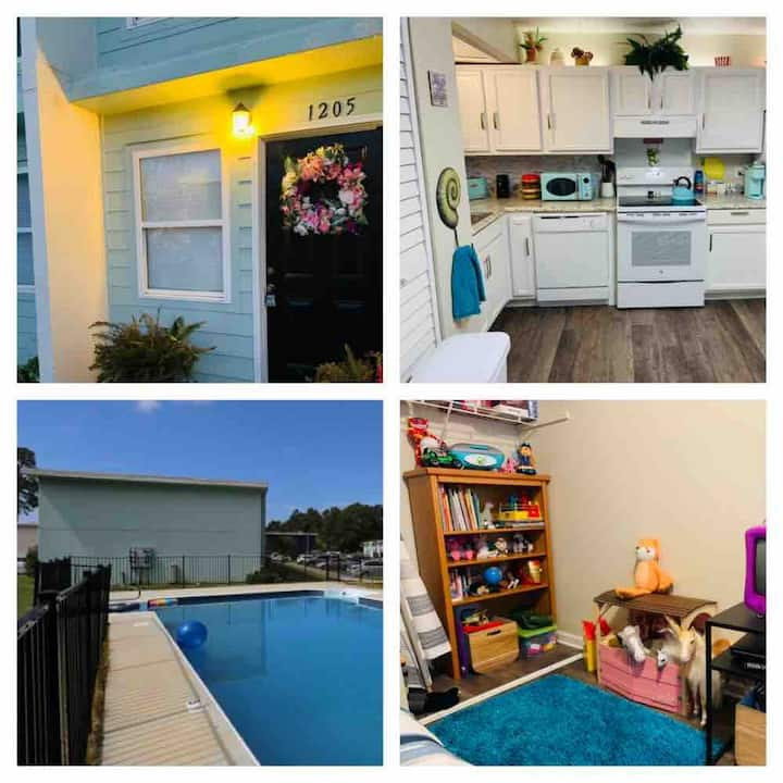 Budget friendly. Kids will love!w/ pool & dog park