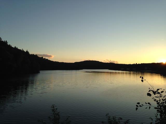 Chalet en bois rond en pleine nature - Shawinigan