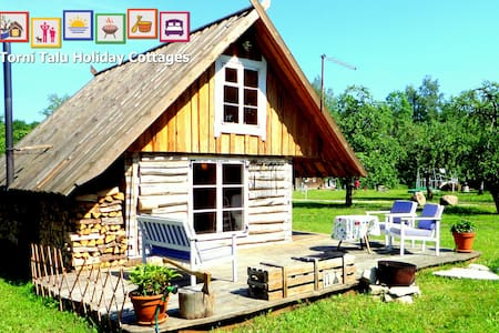 Romantic Cabin with bath and fireplace, Torni Talu - Pulli