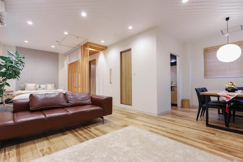 Modern Private Apt/6 min from Sta/in Central Kyoto