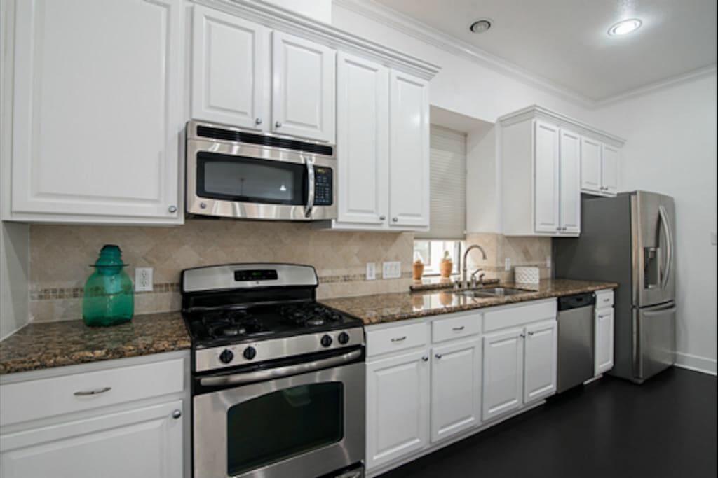 Full-access to spacious kitchen.