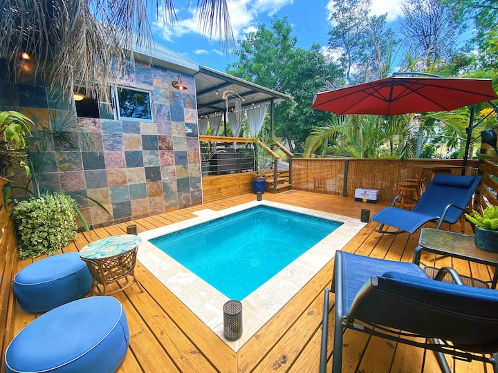Private Pool Tiny House in Downtown Rincon!!