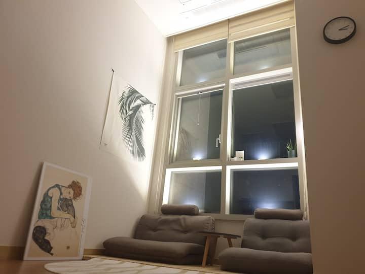 [풀잎]집 전체/청주 고속터미널 1분/감성적인/예쁜 집/분위기 좋은/청결한/미대언니하우스♡