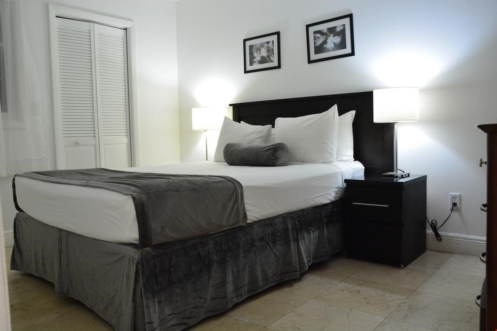 There's a queen bed and 2 sofa beds in your suite.