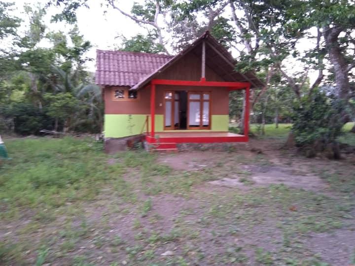 Cabaña junto al lago