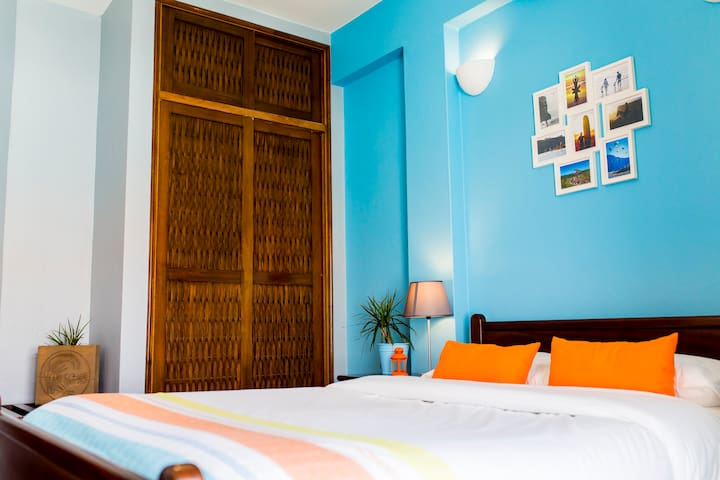 Double Bed Private Room with Balcony