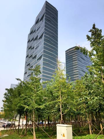 酒店式公寓高層臨海河大床房 - Tianjin - Apartment