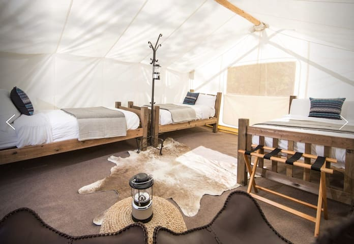 Under Canvas Grand Canyon -Safari with 3 Twin beds