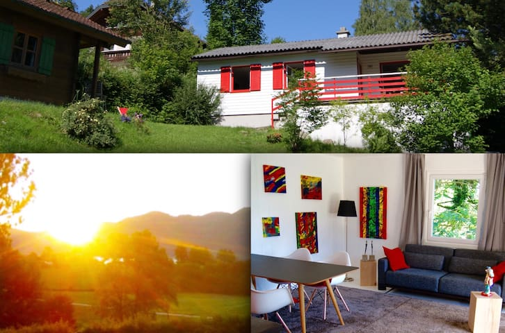 Sommer & Winter am Attersee - See- und Bergblick - Aich - House