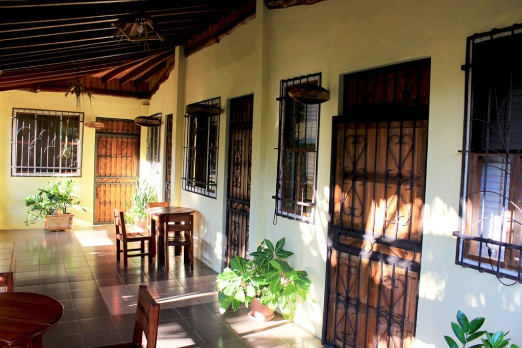 This is the second floor of the house here the rooms are. Your room the first one on the right